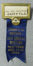1926 New York Vail Bell Telephone Pioneers America Badge Pin Bainbridge Seattle
