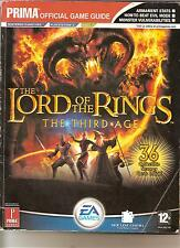 THE LORD OF THE RINGS THE THIRD AGE BOOK PRIMA OFFICIAL GAME GUIDE