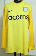 ASTON VILLA  PLAYER ISSUE YELLOW GOALKEEPERS JERSEY BY NIKE SIZE MEN'S XXL NEW