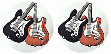 2 x Electric Guitar Design Mug Mats Coaster Mat Coasters Guitarist Music Gift