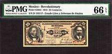 Mexico - Revolutionary Currency 25 Centavos 1915 Pick-S1041 GEM UNC PMG 66 EPQ