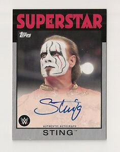 2016 TOPPS WWE HERITAGE STING AUTO #/50 SILVER #14/50 AUTOGRAPH