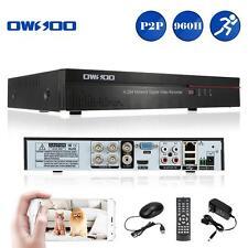 4CH H.264 DVR 960H Digital Video Recorder Home Surveillance Security System US