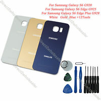 New Battery Cover Glass Back Door For Samsung Galaxy S6 G920 Edge G925 Plus G928