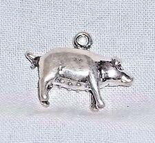 Vintage Sterling Silver PIG SOW PORKER FARM ANIMAL Charm by BELL - NOS