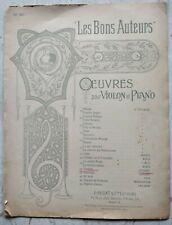 Ehrhardt Sonatine en sol majeur pour violon et piano, partition ancienne