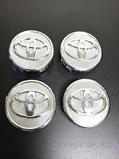 4Pcs SET CHROME CENTER WHEEL LOGO HUB RIM CAPS Fit forTOYOTA PRIUS COROLLA YARIS