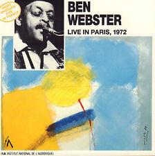 BEN WEBSTER - LIVE IN PARIS 1972 (1989 JAZZ CD FRANCE)