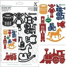 DOCRAFTS XCUT A5 CUTTING DIE SET TOY BOX 9 DIES - NEW UNIVERSAL FIT