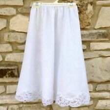 Wonder Maid Half Slip Skirt Style 4820 White Medium Poly Cotton Floral Lace