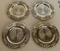 Classic Royal Doulton Old Country Roses Silver Plated Coasters Set of 4
