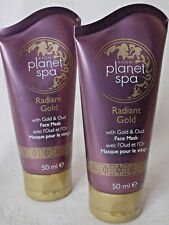 AVON PLANET SPA RADIANT GOLD FACE MASK ~ WITH GOLD & OUD ~ 50ml x 2  *BRAND NEW*