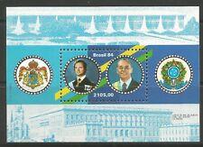 STAMPS-BRAZIL. 1984. The King of Sweden Visit Miniature Sheet. SG: MS2065. MNH.