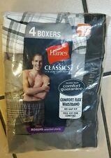 Hanes 798P4 Mens Classic Comfort Flex Waistband Woven Boxers Underwear medium