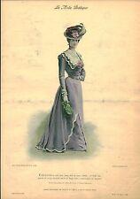 Publicité ancienne la mode pratique toilette de ville no 19  1899
