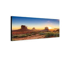 150x50cm Monument Valley Panorama Navajo Tribal Western Leinwand Bild Sinus Art