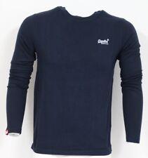 Superdry M60000NS1 98T Orange Label Vintage Long Sleeve T Shirt Eclipse Navy