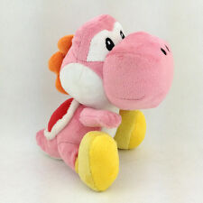 "Pink Yoshi Super Mario Bros Plush Species Yellow Shoe Soft Toy Stuffed Animal 7"""