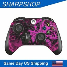 Vinyl Skin Decal for Xbox One Controller Gamepad Protect Sticker Pink Butterfly