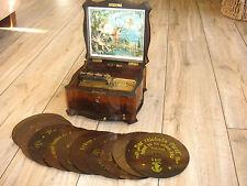 """Polyphon Spieluhr Blechplatten 20,7cm Spieluhr antique music box discs 8 1/4"""""""