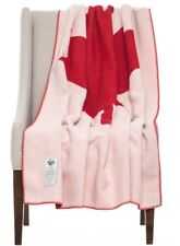 "New 2nd. Woolrich Red/white Maple Leaf Throw Blanket. 46"" X 70"". Made In USA"