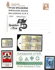 DENMARK BOY & GIRL SCOUTS SCOTT #754 BOOKLET POSTER STAMPS &  POSTAL CARDS MNH