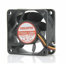 COOLERTEC PC Computer Case Cooling Fan Cooler 3Pin 6cm 60mm 60x60x25mm Silent