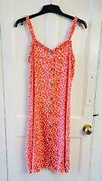 NEXT Dalmatian Spots Peach Strap Shift Mini Dress BNWT RRP£22 UK 14 EUR 42