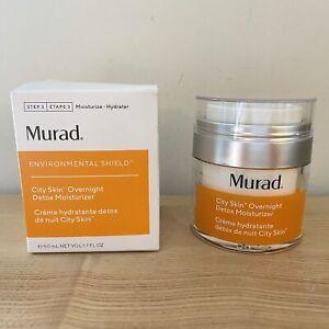 Murad~ Enviromental Shield City Skin Overnight Detox Moisturizer~Full Size~BNIB!