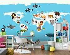 Fototapete Kinderzimmer Tiere Tapete Wandbilder XXL Vlies Wandtapete 9449bP