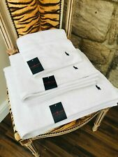 NEW RALPH LAUREN HAND, BATH & BATH SHEET SET OF TOWELS WITH POLO HORSE LOGO