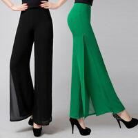 Womens Loose Chiffon Pants Summer Chiffon Korean Skirt Wide Leg Dance Trousers