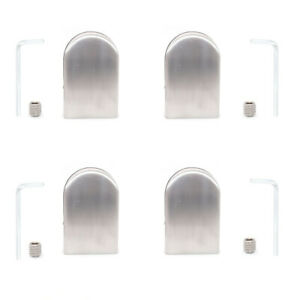4x Glass Clamps for 10-12mm Glass Panel SS 304, Handrail, Adjustable Bracket
