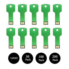 Lot 200pcs 512MB Green Key USB Memory Stick Pen Flash Drive Stroage Custom Logo