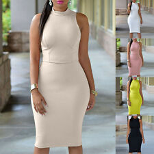NEW ELEGANT BACKLESS HIGH WAIST BODYCON COCKTAIL PARTY SLIM TANK DRESS PLUS SIZE