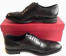 Salvatore Ferragamo Mens Shoes 11EE Wide Sinesio Wingtip Oxford Rubber Sole