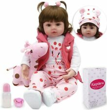 Kaydora Reborn Baby Doll Girl, 16 inch Soft Weighted Body, Cute Lifelike Handmad