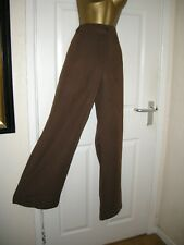 24 BROWN LINEN COTTON MIX WIDE LEG TROUSER  DAXON LA REDOUTE SUMMER HOLIDAYS