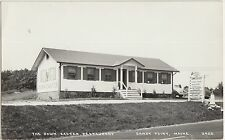 Maine Me Real Photo RPPC Postcard c1950 SANDY POINT Down EASTER RESTAURANT