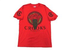 CROOKS & CASTLES The Ruling Elite Graphic Red T-Shirt Adult Size Medium