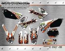 KTM SX SXf 125 250 300 380 520 525 2005 2006 graphics decals kit Moto-StyleMX