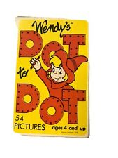 Vintage Wendy's Fast Foot Restaurant Dot To Dot Deck Of Picture Cards