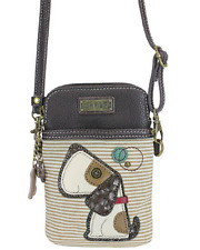 Charming Chala Playful Puppy Dog Cell Phone Purse Mini Crossbody Bag