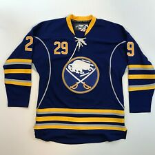 AUTHENTIC Buffalo Sabres Jason Pomminville Reebok Fight Strap Sewn Jersey 48 CCM