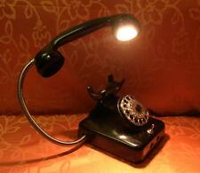 EINZELSTÜCK! TELEFON als TISCHLAMPE LED 5W 230V LAMPE GESCHENK! VINTAGE!