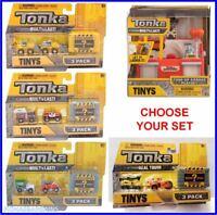Tonka Tinys - Choose Tune Up Garage Playset Or A 3 Pack Miniature Vehicle Set