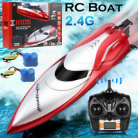 H120 POOL TOYS 2.4G RC Boat Remote Control Racing Boats Toys with 2 Batteries US