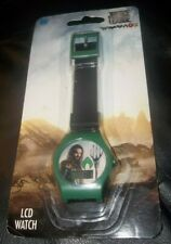 Aquaman Justice League Lcd Kid Accutime Watch New !