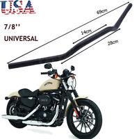 """7/8"""" 22mm Black Motor Drag Bar Handlebar Suit For Harley Honda Suzuki Yamaha US"""