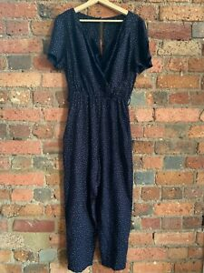 Navy & White Spot Jump Suit Size M - Worn Once - RRP $220